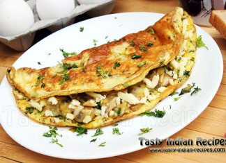 Cheesy Chicken Omelette