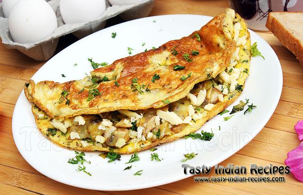 Cheesy Chicken Omelet