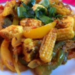 Paneer and Babycorn Jalfrezi