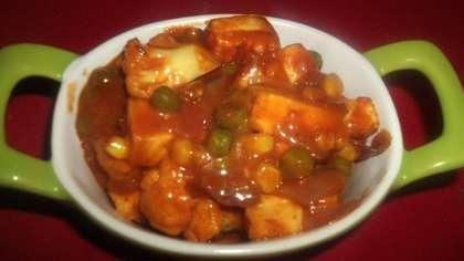 Cauliflower paneer masala