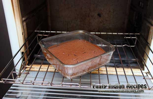 Chocolate Brownie Cake Steps