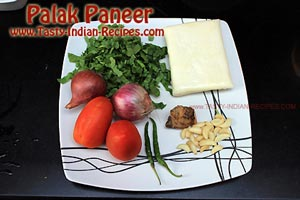Palak Paneer Recipe Ingredients