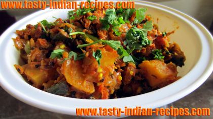 Microwave-Aloo-Bhindi-Masala