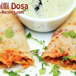 Paneer Chilli Dosa Recipe