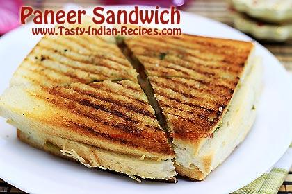 How To Make Paneer Sandwich Paneer Sandwich Recipe