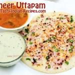 Paneer Uttapam Recipe