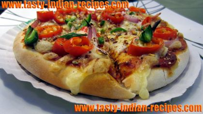 How to make vegetable cheeze pizza vegetable cheese pizza recipe veg cheese pizza forumfinder Gallery