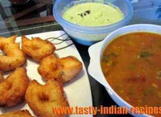 medu-vada-with-sambar-chutney