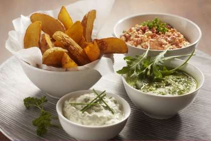 cheese and herb potato wedges