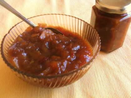 sweet and spicy mango jam