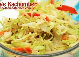 Cabbage Kachumber Recipe---Featured