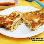 Cheesy Mushroom Omlette Recipe