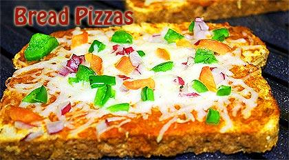 Bread Pizzas Recipe How To Make Bread Pizzas