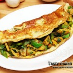 Capsicum and Potato Omelette Recipe