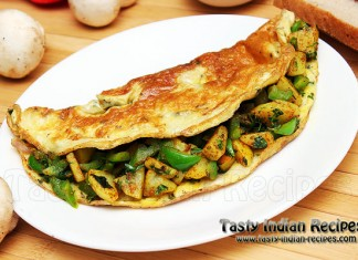 Capsicum and Potato Omelette