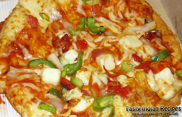 How To Make Paneer Tikka Pizza At Home Without Oven