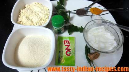 Ingredients for making instand dhokla