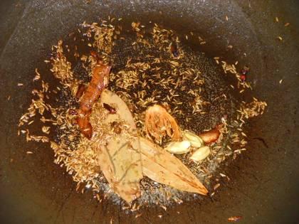 Whole Garam Masala in a Pan