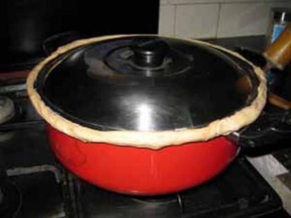 Flour Dough Cover to retain heat inside