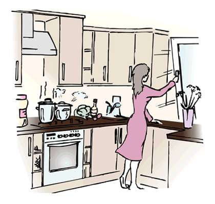 how to take care of the kitchen