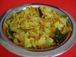 Cabbage Poriyal
