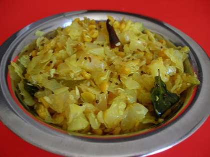 Cabbage Poriyal Recipe How To Make Cabbage Poriyal