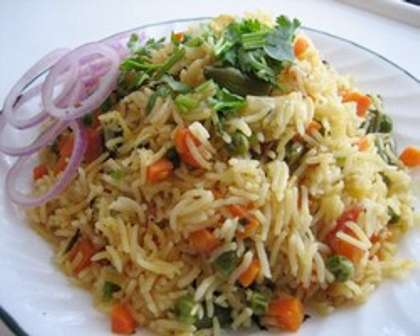 Microwave Vegetable Biryani