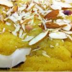 Coconut Custard Halwa Recipe