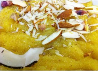 Coconut Custard Halwa
