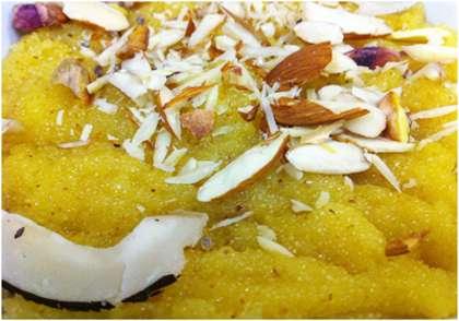 Coconut Custard Halwa