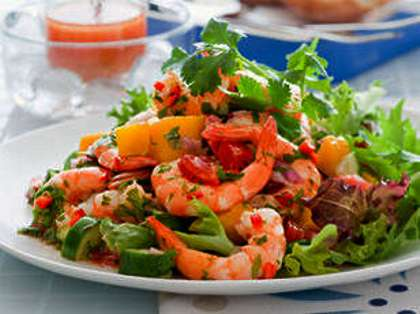 Prawn Mango Salad Recipe How To Make Prawn Mango Salad