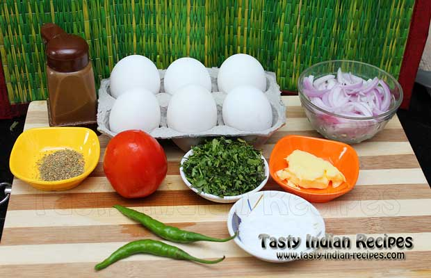 Masala Omelette Recipe Ingredients