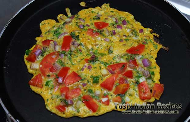 Masala Omelette Recipe Step 4