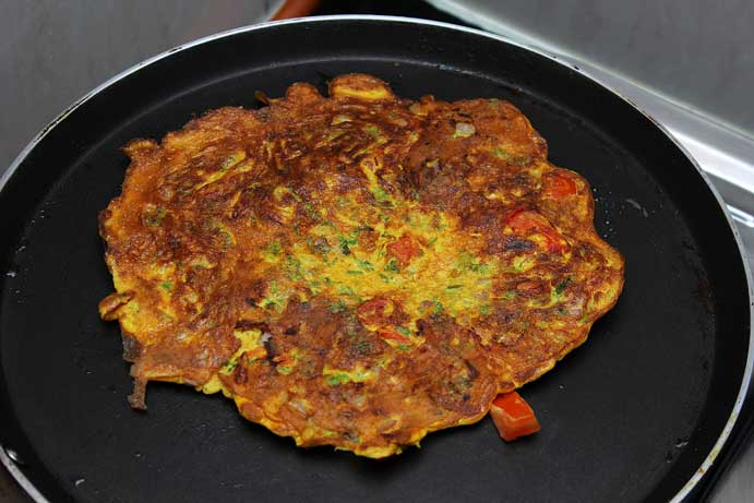 Masala Omelette Recipe Step 5