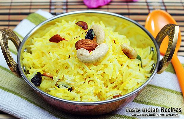 Kesar-Pulao-(Saffron-Rice)