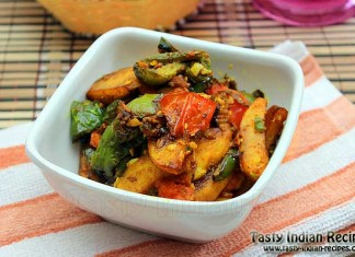Potato Capsicum Curry