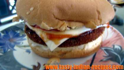 Vegetable and Cheese Burger  Recipe