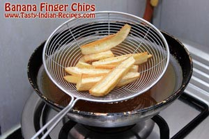 Banana Finger Chips Recipe Step 4