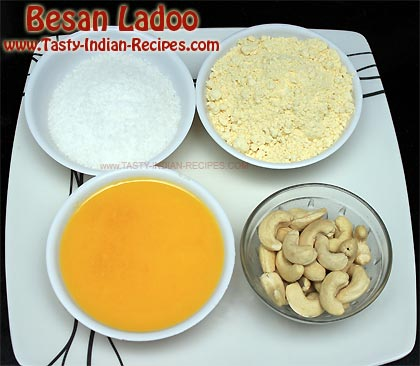 Besan Ladoo Recipe Ingredients