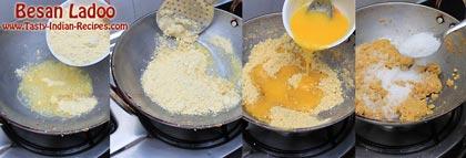 Besan Ladoo Recipe Steps