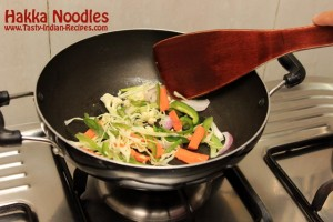 Hakka Noodles Recipe Step 7
