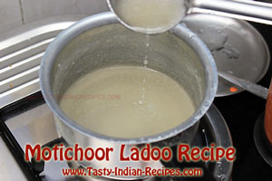 Motichoor Ladoo Recipe Sugar String