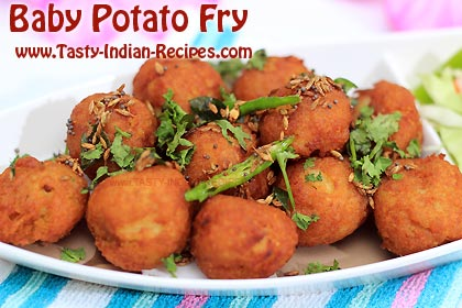 Baby Potato Fry Recipe Baby Potatoes Recipe