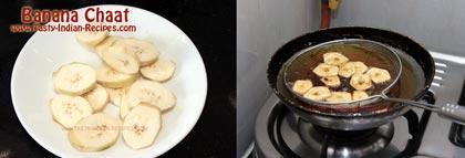 Banana Chaat Recipe step 1
