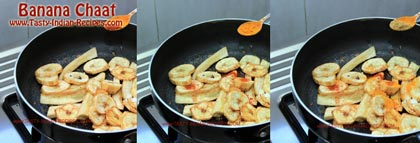 Banana Chaat Recipe step 3