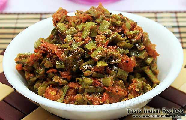 Gawar ki sabzi recipe cluster beans recipe sindhi guaar bhaji