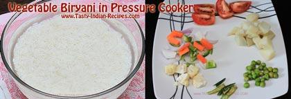 Vegetable Biryani in Pressure Cooker Recipe step 1