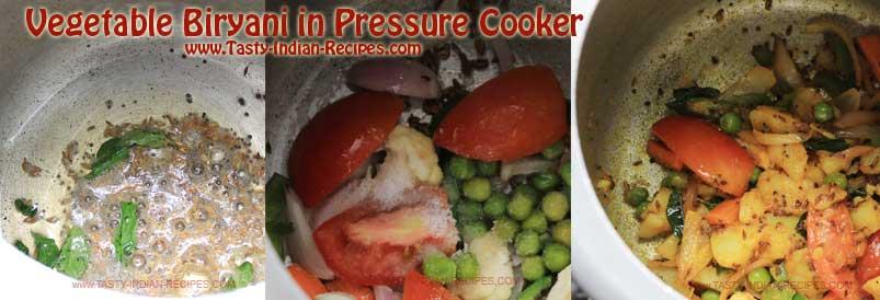 Vegetable Biryani in Pressure Cooker Recipe step 2