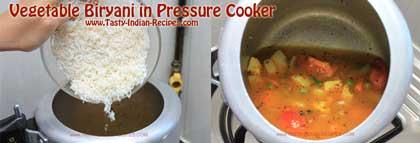 Vegetable Biryani in Pressure Cooker Recipe step 3