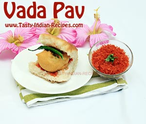 Dry Garlic Chutney with Vada Pav
